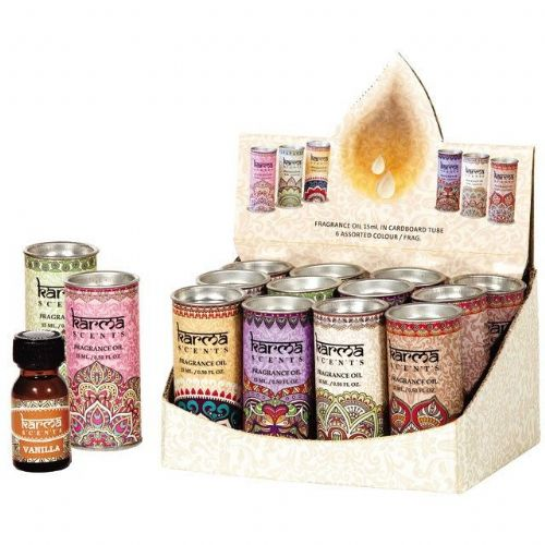 Karma Fragrance Oil For Use With Oil Burners in Gift Tins 6 Fragrances
